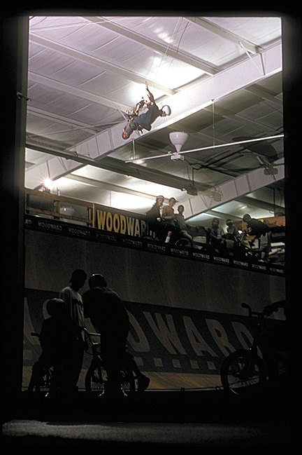 Rider: Brian Wainwright<br> Spot: Camp Woodward<br> Photographer: Chris Hallmen<br> Date: 2000