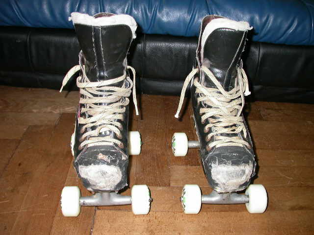 Daniel Knopf's skate<br> front view