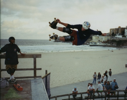 Rider: Paul Jessep<br> Location: Bondi beach vert ramp